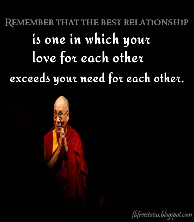 Dalai lama Quotes on Relationships