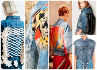 customizar, jean jacket, cazadoras, vaqueras, costura, tunear, bricomoda