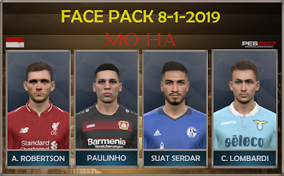 PES 2017 Facepack 8-1-2019 by Mo Ha