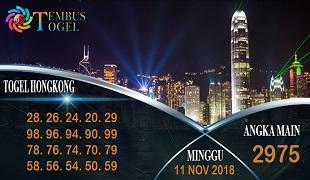Prediksi Angka Togel Hongkong Minggu 11 November 2018