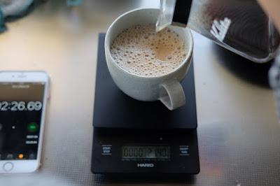 コーヒートレーニング・淹れ方の勉強 カフェオレ