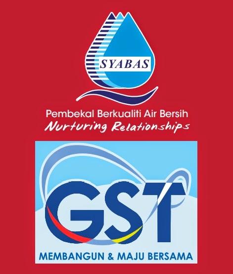 Impak GST Bagi Pengguna Air SYABAS di Selangor - KL - Putrajaya