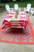Ten June Red Pink Outdoor Patio Makeover