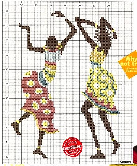 DIY Decoração Em Ponto Cruz - Lindas Mulheres Africanas Com Gráficos 88