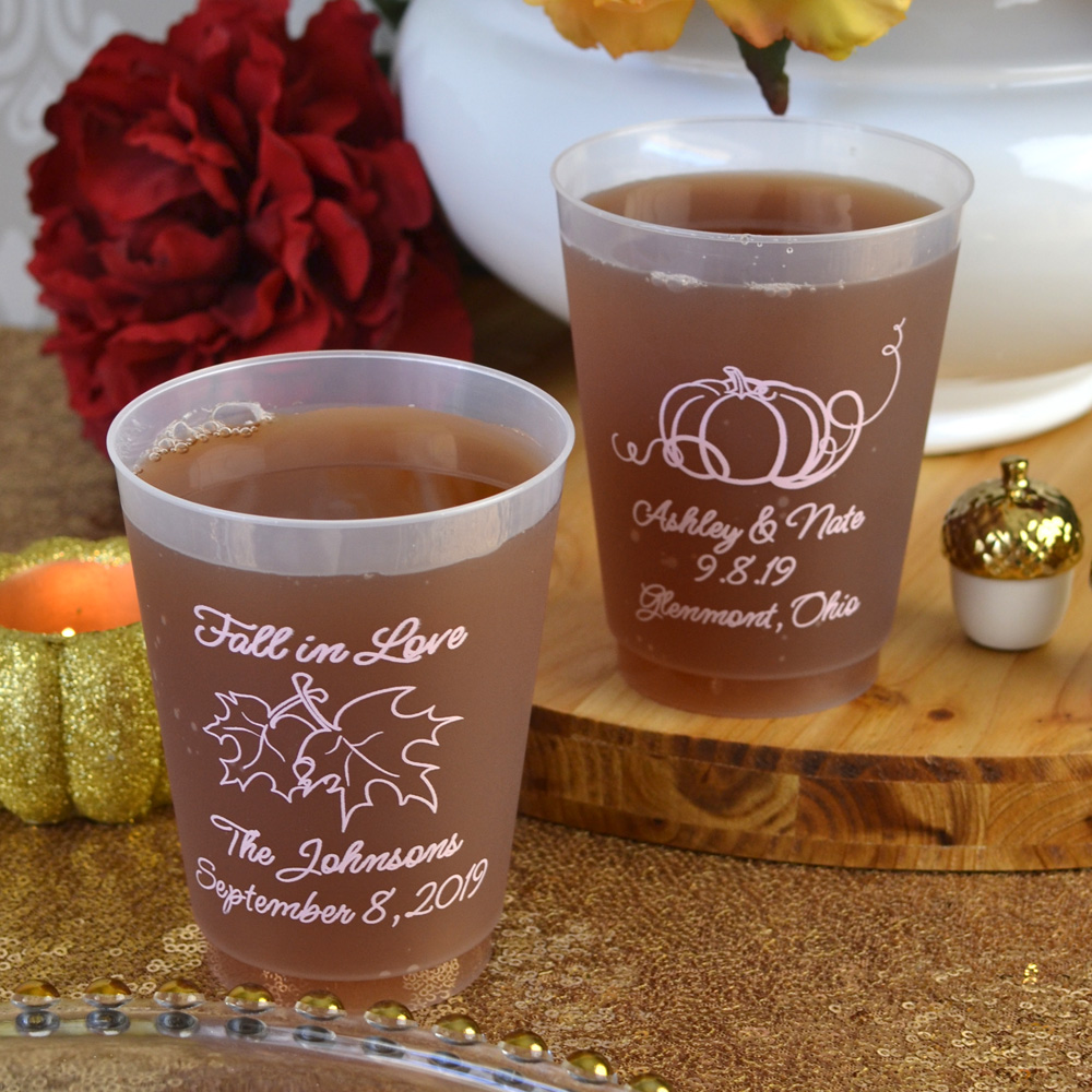 Wedding Favor Personalized Plastic Cups
