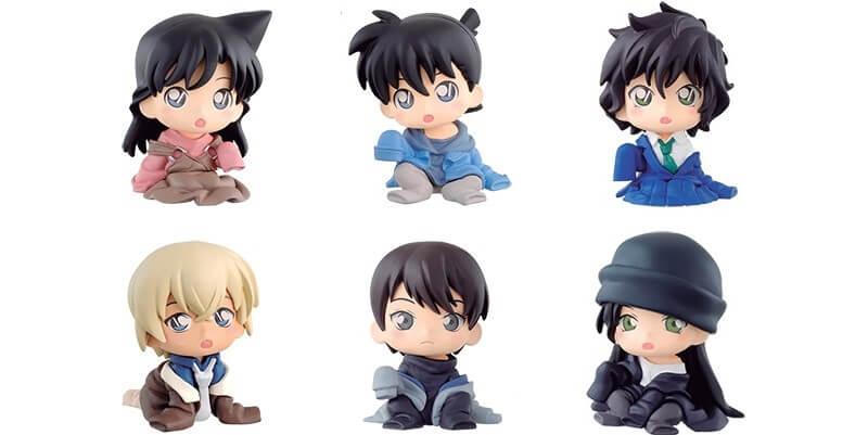 Freshly-shrunken Detective Conan character figures