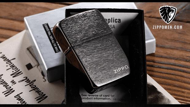 Replica 1941 Black Ice Có Khắc Logo Zippo - MS 24485