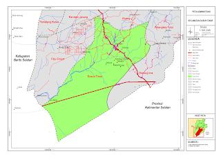 Peta Kecamatan Dusun Timur