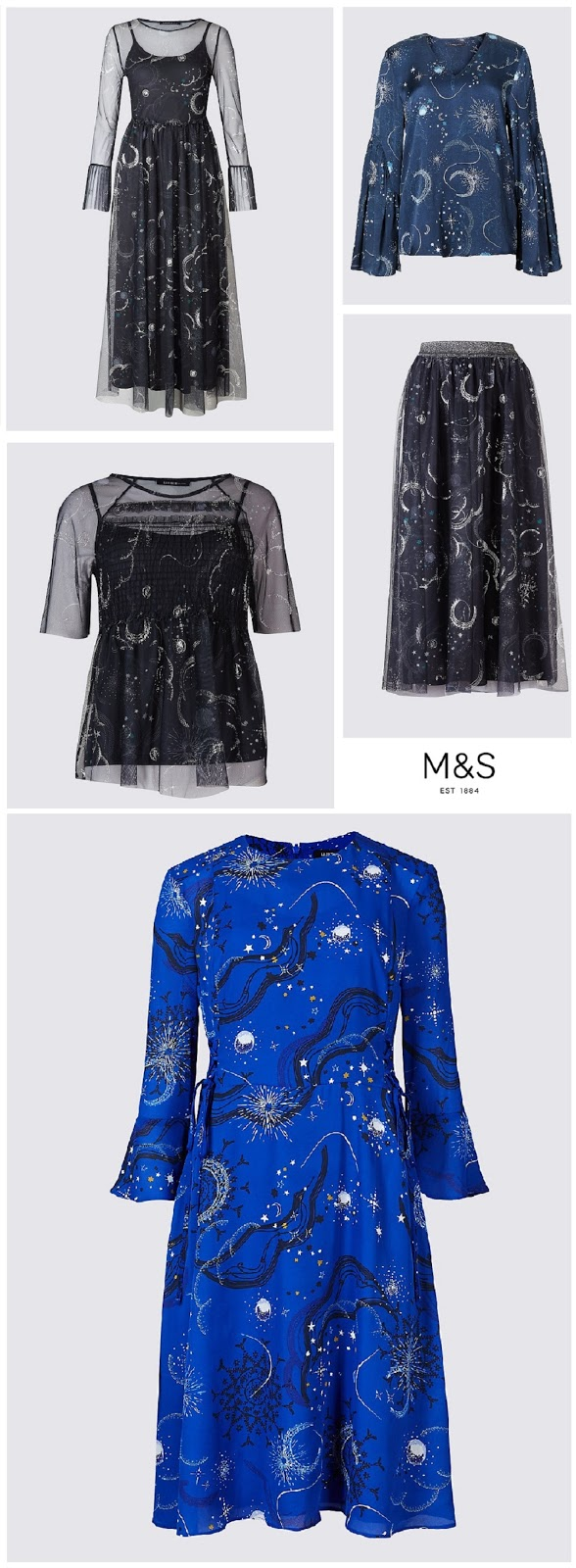 Constellation Print, Marks and Spencer, Celestial Print, M&S, The Style Guide Blog, Northern Ireland