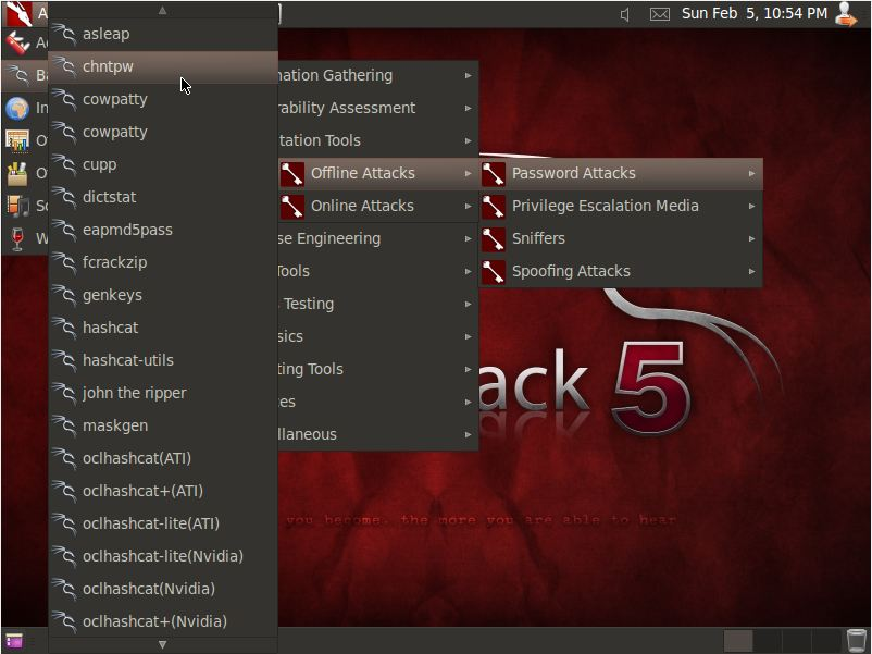 Windows password cracking with Backtrack