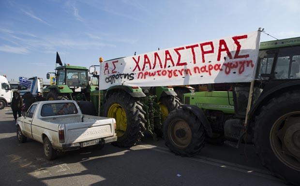 Griechische Bauern sperren Grenzübergang zu Mazedonien