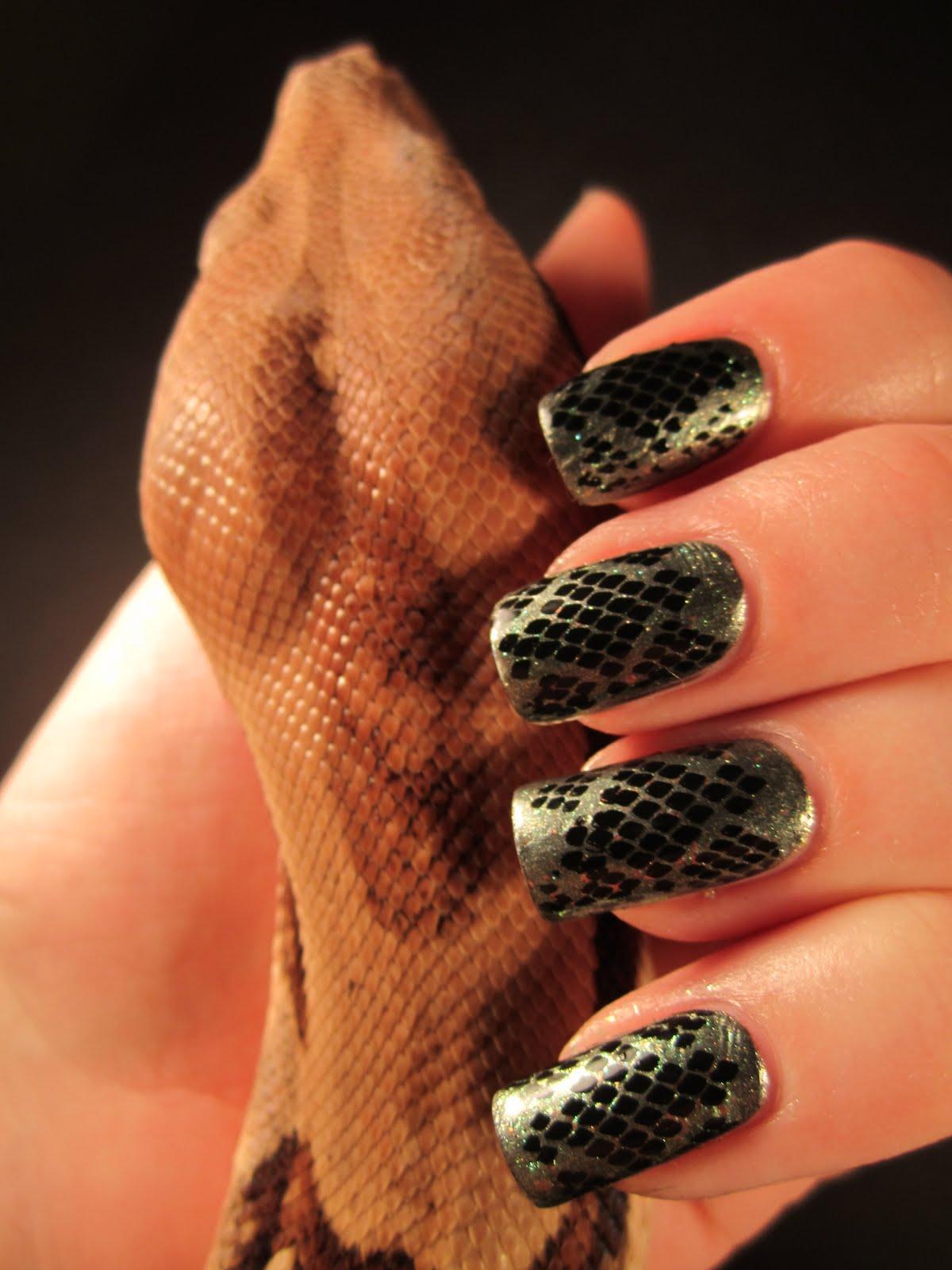 Jessica S Nail Art Snake Skin Nail Design