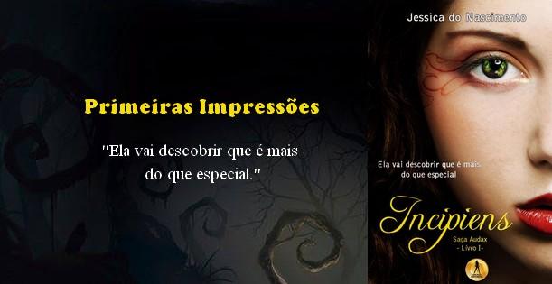 Livro Incipiens autora Jessica do Nascimento