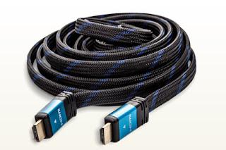 Płaski kabel przewód HDMI 5 metrów z Biedronki