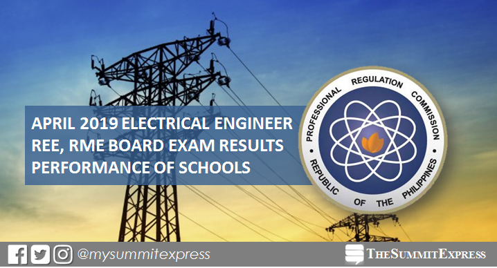 Electrical Engineer REE, RME board exam result April 2019: Performance of schools