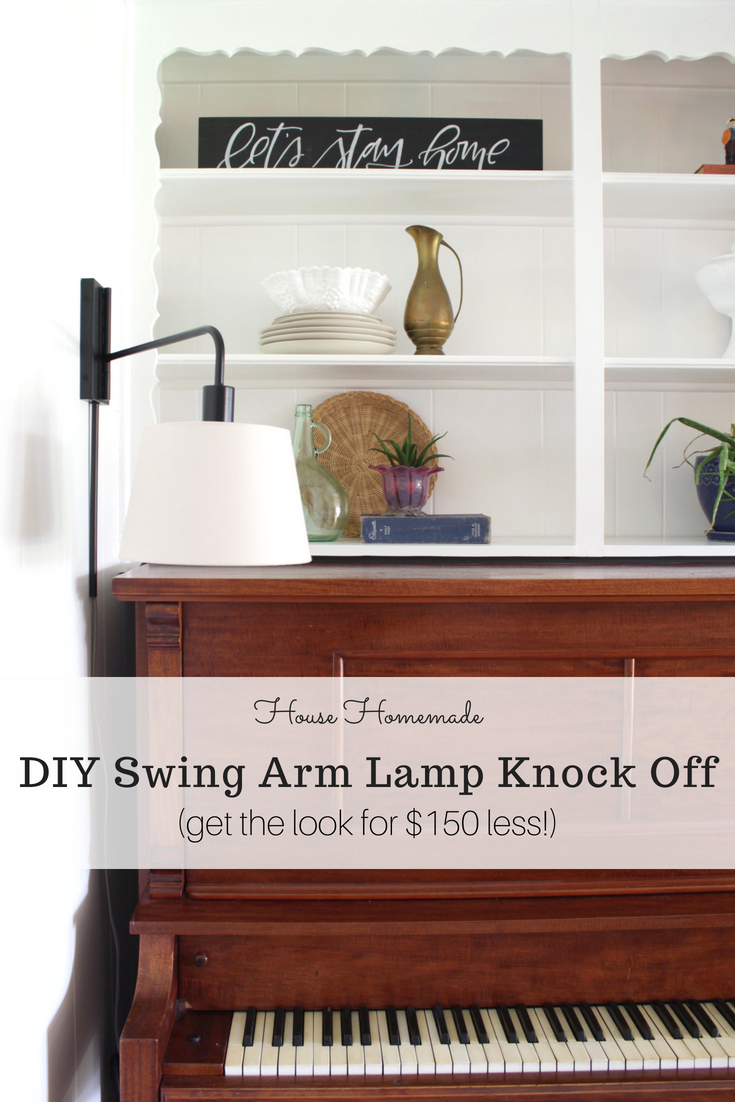 DIY Swing Arm Lamp Knock off
