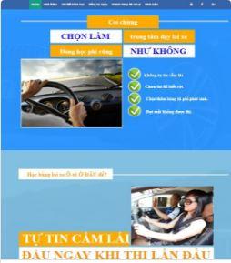 Landingpage trung tâm dạy lái xe