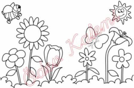 Görsel Sanatlar Dersi 1 Sinif Boyama çalişmasi ödev Kalemi
