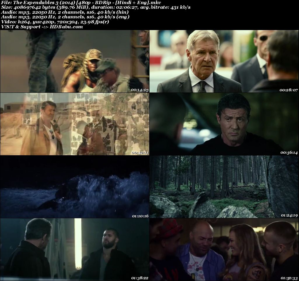 The Expendables 3 (2014) [480p - BDRip - [Hindi + Eng] Screenshot