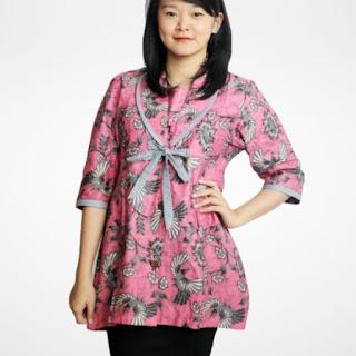 desain baju batik modern atasan