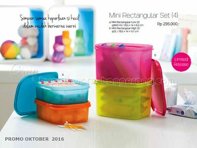 Mini Rectangular Set ~ Tupperware Promo Oktober 2016