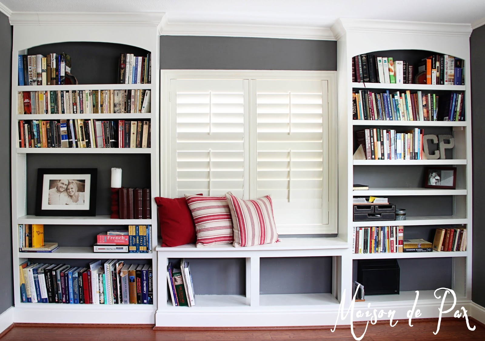 DIY BuiltIn Bookshelves Maison de Pax – Floor To Ceiling Bookshelves Plans