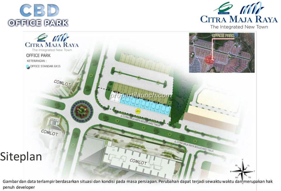 Lokasi Kantor CBD Office Park Maja Raya