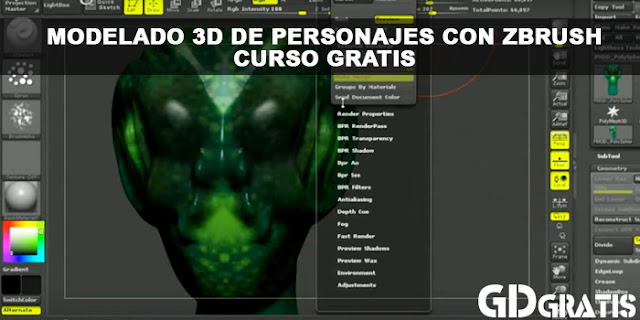 Curso Gratis: Modelado 3D de personajes con ZBrush | 1:02:50