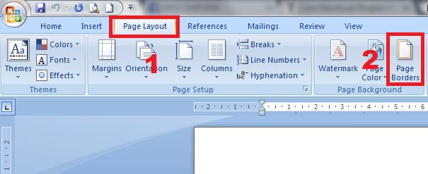 gambar Cara Membuat Bingkai Keren Di Microsoft Word