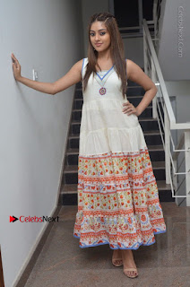 Telugu Actress Anu Emmanuel New Stills in Beautiful White Long Dress  0100.JPG