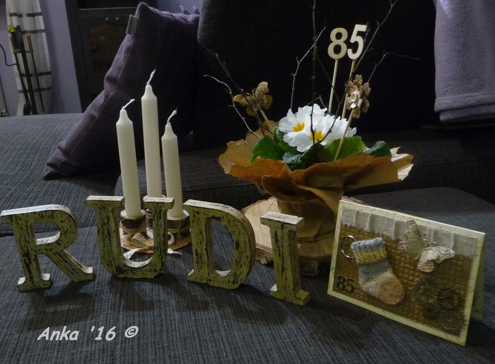ankas bastelseiten deko f r den 85 geburtstag von meinem. Black Bedroom Furniture Sets. Home Design Ideas