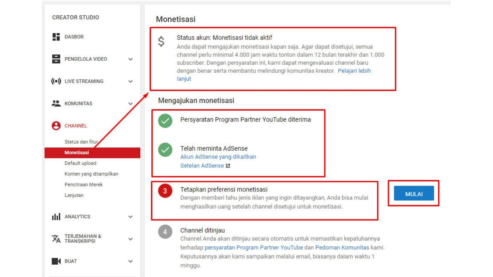 Cara Daftar Akun Adsense Untuk Channel Youtube
