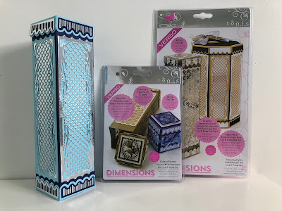 Tall square Tonic Studios Kaleidoscope box with mirror card