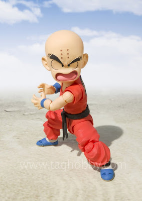 "S.H. Figuarts Kid Krilin de ""Dragon Ball"" - Tamashii Nations"