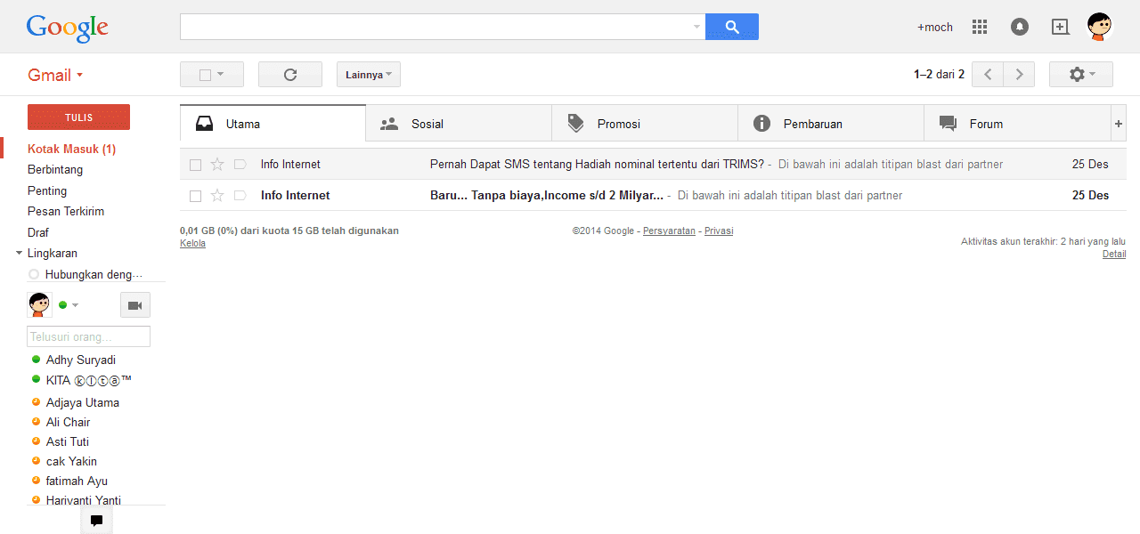 default gmail