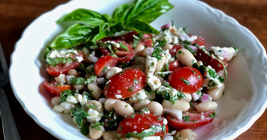 Tomato and Cannellini Bean Salad, with Feta