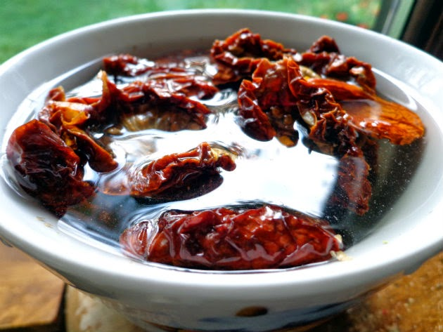 reconstitute sun-dried tomatoes