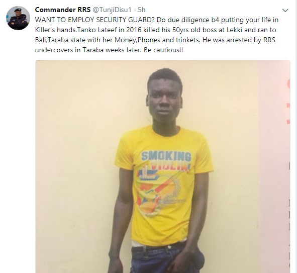 RSS Nabbed Man Who Killed His Boss In Lekki (Photos)