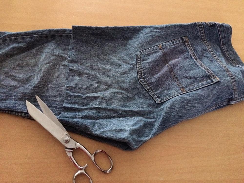recycler un vieux jean en sac a main partie 1 l 39 ext rieur. Black Bedroom Furniture Sets. Home Design Ideas