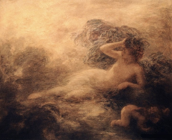 Nyx Ignace Henri Jean Théodore Fantin-Latour, French, 1897 Image courtesy Wikimedia Commons.