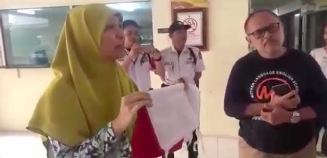 Bendera Merah Putih Dicopot Paksa, Kapolres Langsung Kerahkan Anggota