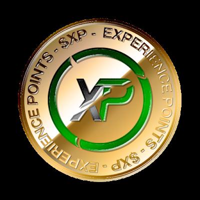 エックスピー(XP)のフリー素材(金貨ver)
