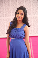 Divya Nandini stunning Beauty in blue Dress at Trendz Exhibition Launch ~  Celebrities Galleries 061.JPG