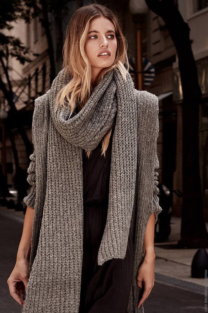 Sacos invierno 2019 moda tejidos invierno 2019.