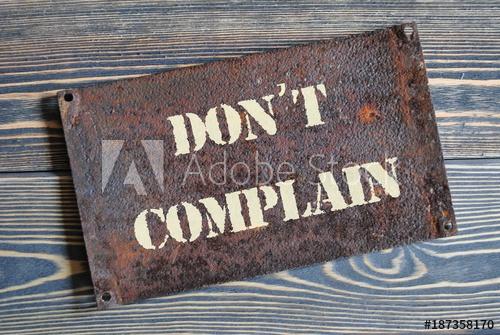 Đừng phàn nàn