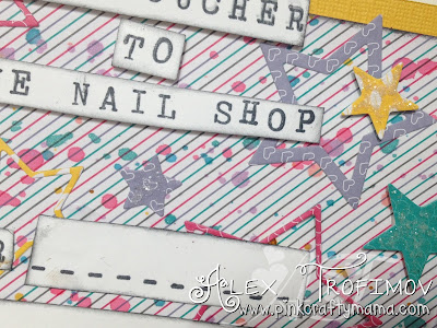 paper smooches stampin up nail polish retail therapy the alley way TAWS occasions 2016 have a cuppa dsp challenge stars die cutting rotary stamp set card cards