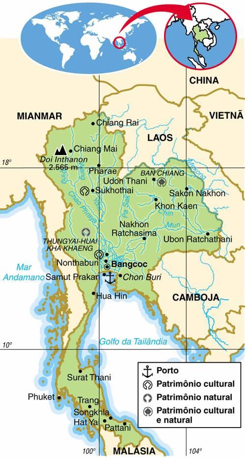 TAILÂNDIA - ASPECTOS GEOGRÁFICOS E SOCIAIS DA TAILÂNDIA