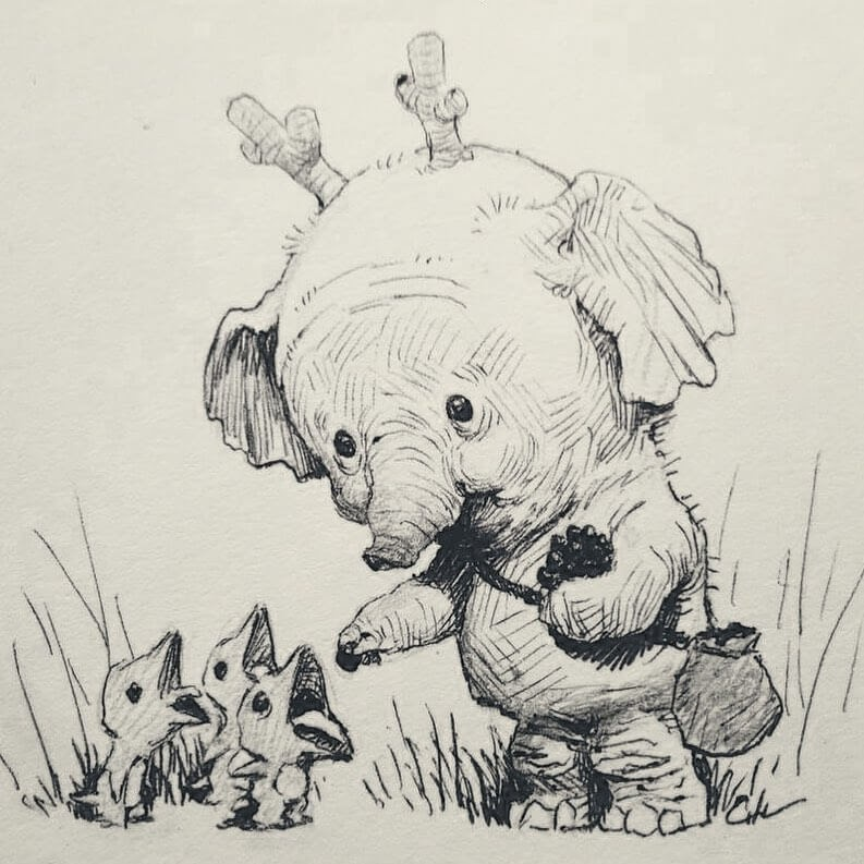 08-Bobby-Chiu-Fun-and-Cute-Ink-Fantasy-Animals-www-designstack-co