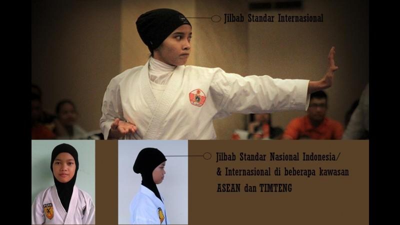 Jilbab Standar Internasional untuk Kejuaraan karate
