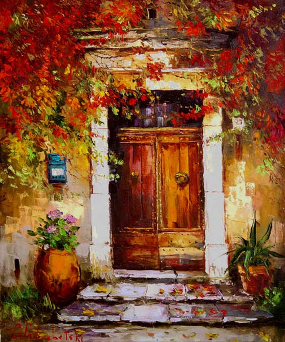 Gleb goloubetski 1975 tutt 39 art pittura scultura for Oil paintings of houses
